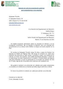 CARTA DE PRESENTACIÓN GENÉRICA