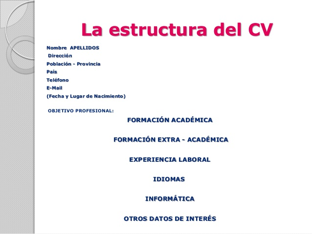 estructura del curr u00edculum