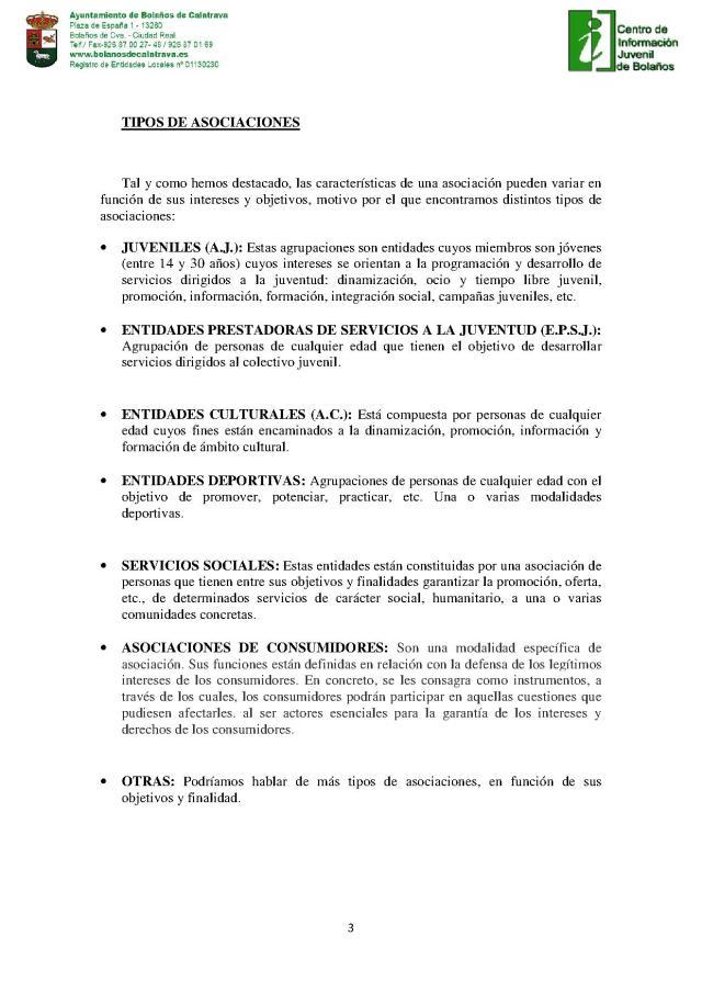 TIPOS DE ASOCIACIONES