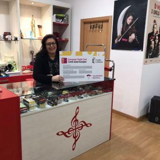 Musicalatrava. Adhesión de empresas al descuento a jóvenes con carné joven europeo. Diciembre de 2017.