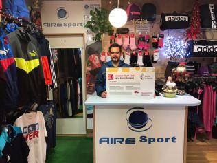Air Sport. Adhesión de empresas al descuento a jóvenes con carné joven europeo. Diciembre de 2017.
