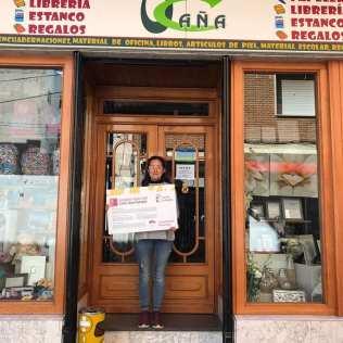 Librería Ocaña. Adhesión de empresas al descuento a jóvenes con carné joven europeo. Marzo de 2018.
