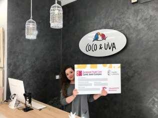 Moda Coco y Uva. Adhesión de empresas al descuento a jóvenes con carné joven europeo. Marzo de 2018.