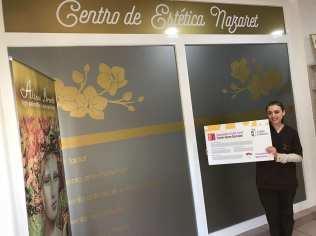 Centro de estética Nazaret. Adhesión de empresas al descuento a jóvenes con carné joven europeo. Marzo de 2018.