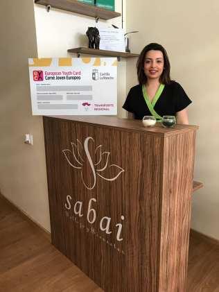 Centro de estética Sabai. Adhesión de empresas al descuento a jóvenes con carné joven europeo. Marzo de 2018.