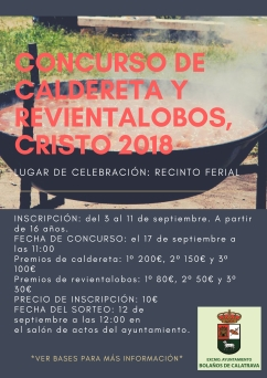 CARTEL CONCURSO CALDERETA Y REVIENTA LOBOS