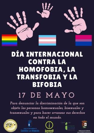 día internacional contra la homofobia. 17 mayo