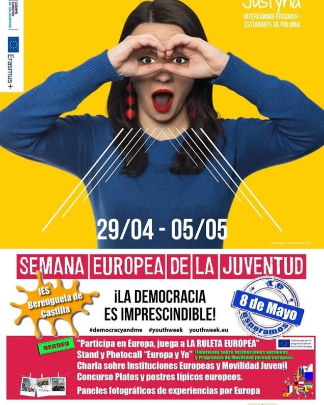 Juegos gigantes, stands informativos, jornadas en instituto, etc. Semana Europea de la Juventud. 8 de mayo.